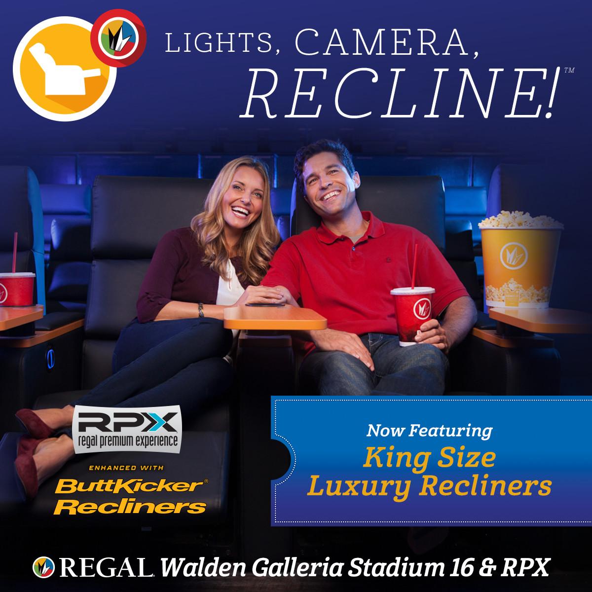 lights camera recline with regal cinemas walden galleria lights camera recline with regal
