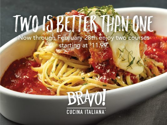 Bravo_Two Courses for 11.99_Jan17