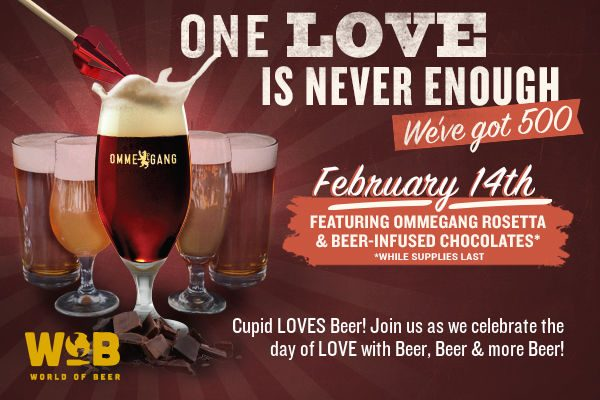 let beer be your valentine purchase a ommegang rosetta draught and receive a beer infused chocolate straight from the brewery