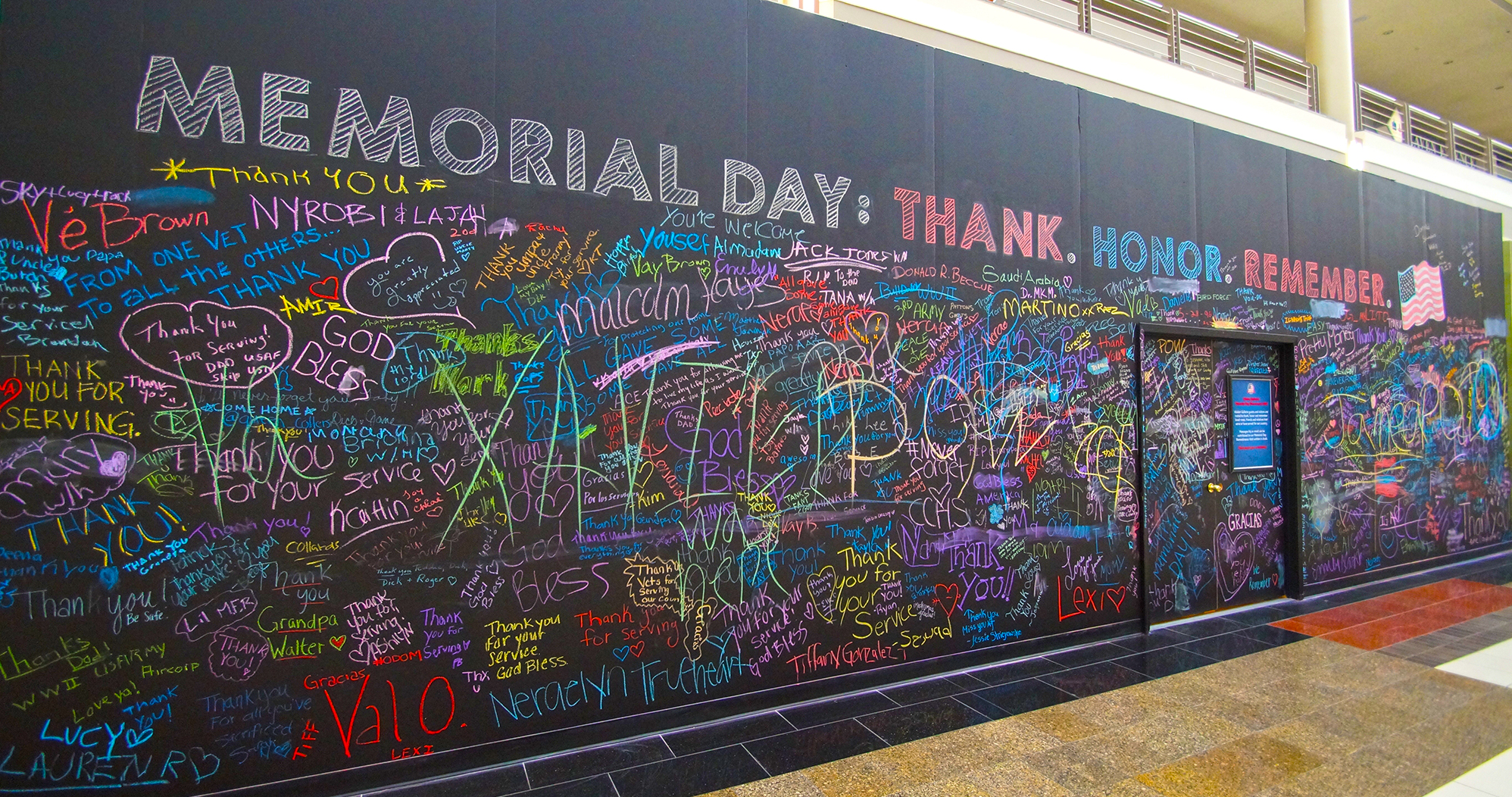 Walden Galleria's Memorial Day Remembrance Wall