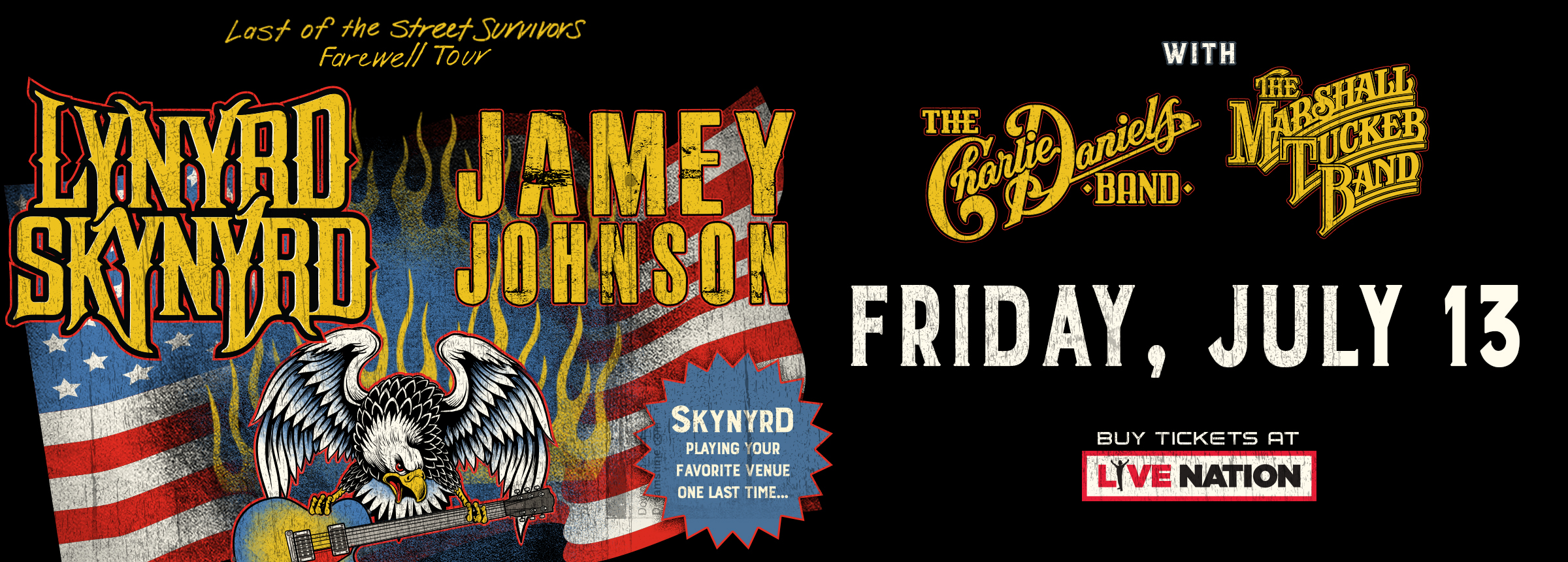LIVE NATION SUMMER CONCERT SERIES - TICKET GIVEAWAY - LYNYRD