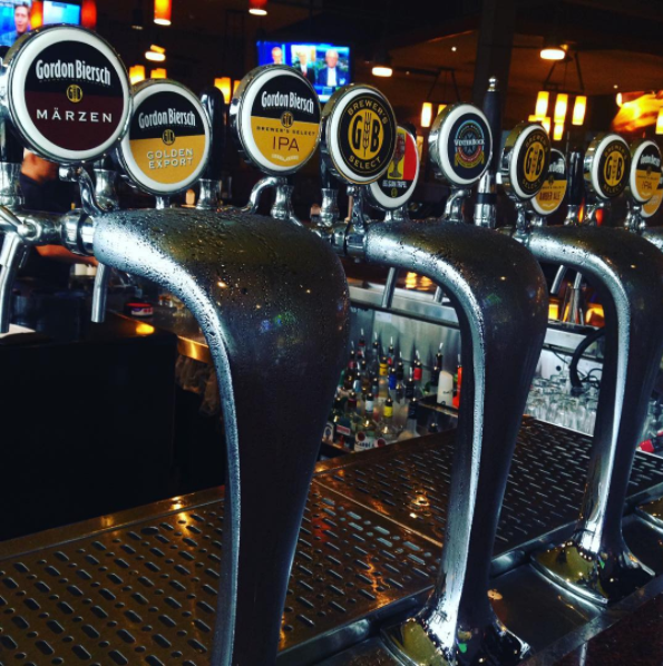 Beer Taps at Gordon Biersch