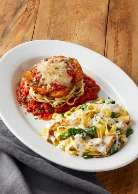 pasta woozie bravo cucina italiana half portions