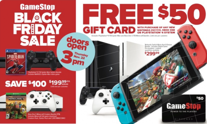 FREE $50 Giftcard with purchase of any new Nintendo Switch, XBOX One