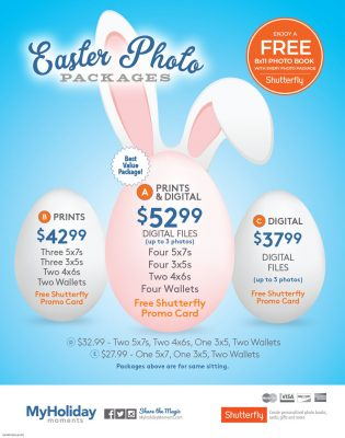 Easter Bunny Photo Package Pricing