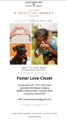 Foster Love Closet Charmed by Charity