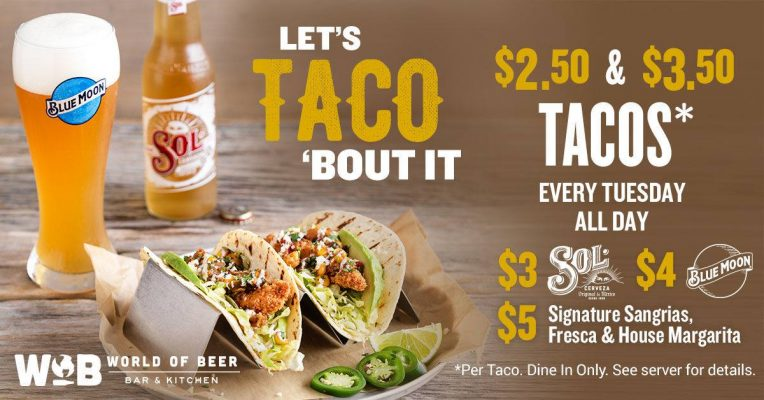world of beer taco tuesdays