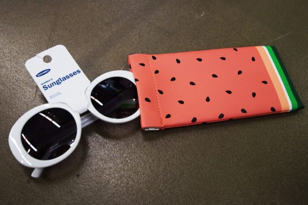 old navy sunglasses and watermelon case