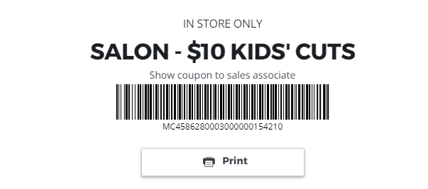 JCPenney Hair Salon Coupon
