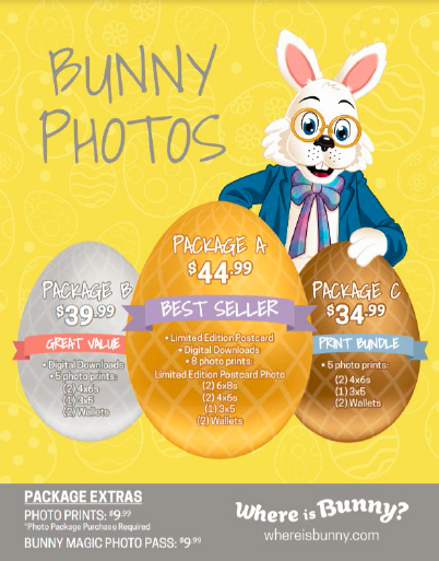 Easter Bunny 2021 Pricing