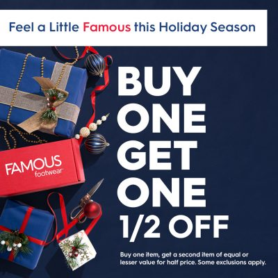 Famous Footwear Holiday BOGO Ad