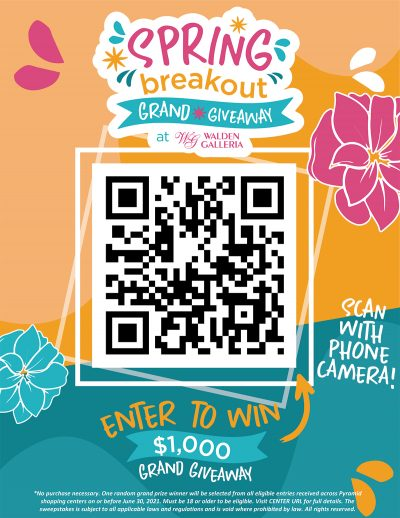Spring Breakout Blog Image Example QR Poster 2