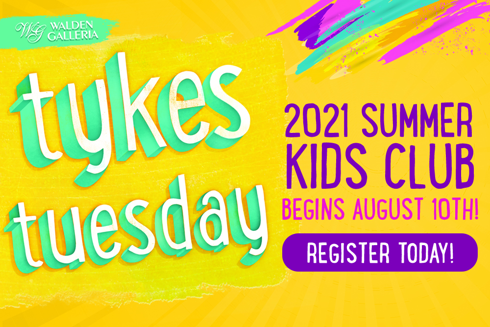 2021 Tykes Tuesday Summer Kids Club Website Featured Ad