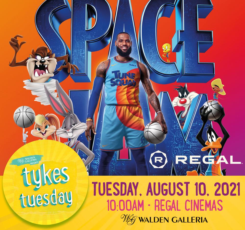 Tykes Tuesday Summer Kids Club Regal Space Jam